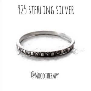 Oxidized 925SS Patterned Stackable Band Ring